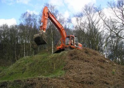 Excavator Starting Work